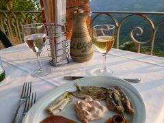 優雅な夏バカンス イタリア・東リビエラの旅♪ Vol44(第4日目夜) ☆モンテロッソ・アル・マーレ:山上のレストラン「Ristorante Il Ciliegio」で暮れゆく絶景を眺めながら優雅なディナー♪