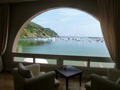 優雅な夏バカンス イタリア・東リビエラの旅♪ Vol105(第9日目午後) ☆セストリ・レヴァンテ:「Hotel Miramare Sestri Levante」のカフェでビーチを眺めながら冷たいエスプレッソ♪