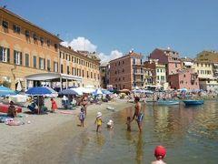 優雅な夏バカンス イタリア・東リビエラの旅♪ Vol114(第10日目午前) ☆セストリ・レヴァンテ:旧港のビーチで優雅にバカンス♪