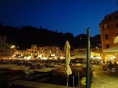 優雅な夏バカンス イタリア・東リビエラの旅♪ Vol137(第11日目夜) ☆ポルトフィーノ:美しい夜景のポルトフィーノ♪豪華ヨットが並ぶ壮観♪