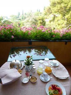 優雅な夏バカンス イタリア・東リビエラの旅♪ Vol138(第12日目朝) ☆ポルトフィーノ:「Hotel Splendido」の朝食はテラスでルームサービス♪