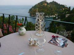 優雅な夏バカンス イタリア・東リビエラの旅♪ Vol149(第12日目夜) ☆ポルトフィーノ:「Hotel Splendido」のレストランできらめく夜景を眺めながら優雅なディナー♪
