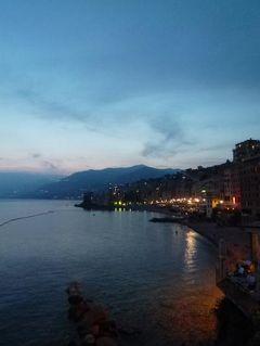 優雅な夏バカンス イタリア・東リビエラの旅♪ Vol173(第14日目夜) ☆カモーリ:最後のディナーは素晴らしい夕陽を眺めながら♪