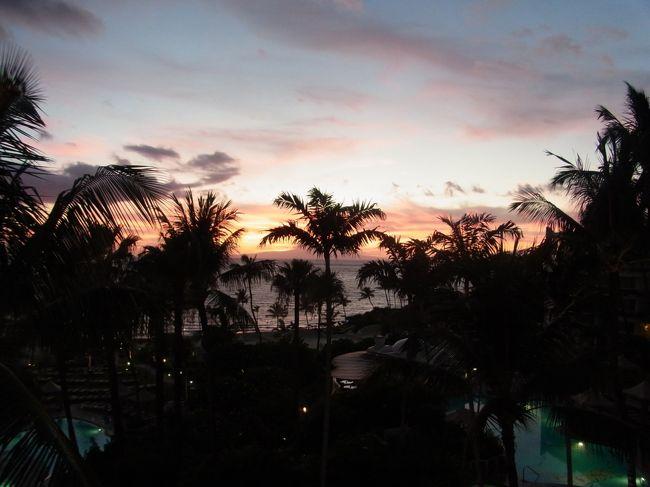 8月11日から8日間でハワイに行ってきました。<br />今回はマウイ島2泊、オアフ島4泊のハワイステイです。<br />マウイ島は以前1度だけ行ったことがあるのですが、久しぶり過ぎて全く記憶がありません。<br />ほとんど初マウイ島でしたので楽しみにしていたのですが、ハレアカラに登るツアーを予約しようとしたのですがお盆でいっぱい(><)。<br />仕方ないのでのんびり過ごしました。<br /><br />ホテル<br />マウイ島:Fairmont Kea Lani Maui<br />オアフ島:Halekulani On The Beach at Waikiki<br />