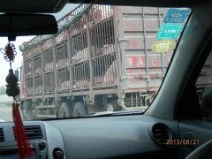21水曜1日目1午後北京図門長春 天津から高速道は豚に 北京首都機場朗豪酒店にて前泊