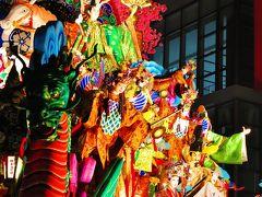 八戸三社大祭27 中日k 吹上山車組=最優秀賞=おめでとう! ☆歓声が最高潮に