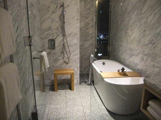 インターコンチネンタル大阪のクラブフロアに宿泊しました。<br /><br />大理石を使用したバスルームは広さ、快適性とも申し分ありませんでした。<br /><br />クラブラウンジのアフタヌーンティのスイーツもおいしかったです。