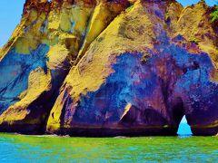 奥松島-2 嵯峨渓=荒波と風雨に浸食された海蝕崖= ☆天狗岩・足長松・夫婦岩・・
