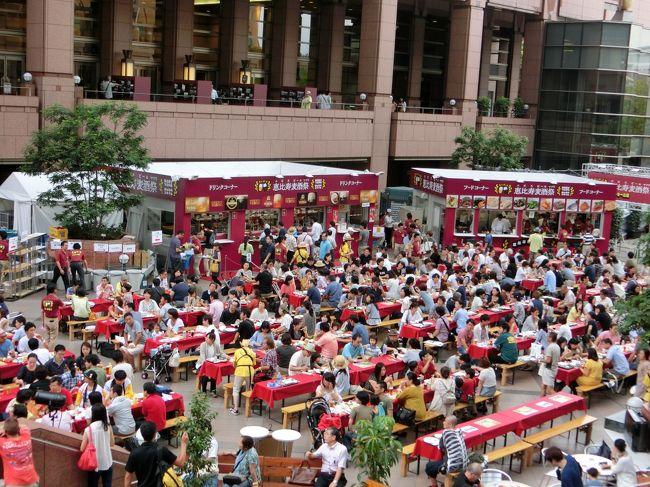 恵比寿麦酒祭(エビスビール祭り) 2013<br /><br />3連休に予定もなかったので、開催中のエビスビール祭りに初めて参加しました。<br /><br />美味しいエビスビールに美味しいオツマミを堪能♪<br />いろいろお土産までいただいて、とても楽しかったです。