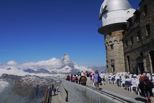 この旅行記は、2013年7月11日~7月25日、パリ3泊、スイス8泊、ミラノ2泊の13泊15日の旅行のスイス編です。<br /><br />スイスに入って6日目です。<br /><br /><br />この日の予定<br /><br />*ゴルナーグラート展望台→ローテンボーデン→リッフェルゼー→ウンターリッフェルゼー→リッフェルベルク教会→リッフェルベルク→ツェルマット<br />