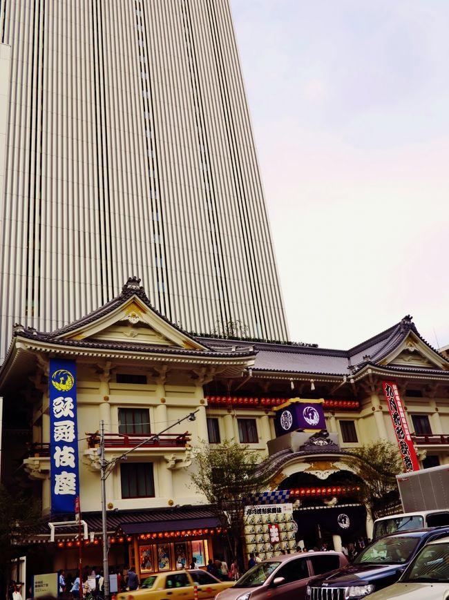 歌舞伎座(かぶきざ)は、東京都中央区銀座四丁目にある歌舞伎専用の劇場および企業。大正時代から松竹の直営で経営を行ってきた。火災や戦災に遭うなど様々な変遷はあったが、今日に至るまで名実ともに代表的な歌舞伎劇場として知られる。<br /><br /><br />歌舞伎座は、明治の演劇改良運動の流れを受けて開設された。この運動の提唱者の一人でジャーナリストの福地源一郎と金融業者の千葉勝五郎の共同経営で、1889年(明治22年)、東京市京橋区木挽町に開設された。<br /><br />建て替えの実施は2008年(平成20年)10月に正式に発表され、翌年8月26日には松竹と歌舞伎座により建て替えの具体的な計画が発表された。<br />2009年(平成21年)から1年余りに渡って行われた「さよなら公演」の後、2010年(平成22年)4月30日に閉場式が行われ、その数日後には解体工事の準備が始まった。<br />2013年2月26日に、オフィスビルと併設された歌舞伎座の建て替えが完了した。3月27日・28日の2日に渡って開場式が行われ、4月2日から1年間、こけら落とし興行が行われる。<br /><br />新しい歌舞伎座<br />地下4階地上29階建ての高層オフィスビル(高さ145メートル、軒高135メートル)を併設。劇場の外観は従来通りの低層で和風桃山様式を採用、建物は晴海通りから35メートル後退させて入口の前に緑を配した余裕の空間を置いた。内部も従来通りに桟敷席や一幕見席を配置したうえで、バリアフリー化やトイレの数が増加されるほか、歌舞伎文化を紹介するギャラリーも配置された。<br />(フリー百科事典『ウィキペディア(Wikipedia)』より引用)<br /><br />こけら落し(&#26478;落し)とは、新たに建てられた劇場で初めて行われる催しのことである。<br />演目はそれぞれの劇場の特性に合わせた内容で、おおむね慶事の内容であることが多い。「&#26478;(こけら)」とは木片のことであり、建設工事の最後に木片を払うことが語源になっている。<br />(フリー百科事典『ウィキペディア(Wikipedia)』より引用)<br /><br />歌舞伎座 については・・<br />http://www.kabuki-za.co.jp/<br />