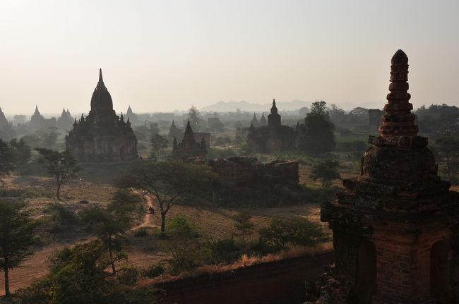 バガン(1):朝靄に霞む古の仏塔 ◆ミャンマー3日間の旅 3/9◆