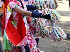 宇佐神社で獅子舞を観る。