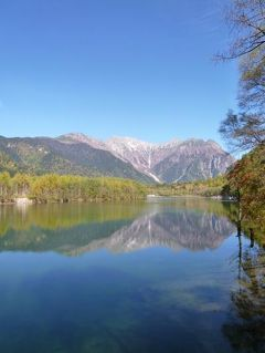秋の信州 上高地と別所温泉の旅♪ Vol14(第2日目午前) ☆上高地 最後の別れは鏡のような絶景「大正池」♪