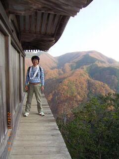 鳥取港でかにすき 三徳山投入堂と三朝温泉