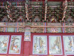 2011秋、韓国旅行記24(35:補遺2)大邱・桐華寺、禅問答壁画、十二神レリーフ石像