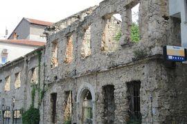 2012初夏、クロアチア等・東欧旅行記(33):6月24日(7):モスタル、内戦の傷跡が残された町並み、スタリ・モスト