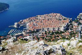 2012初夏、クロアチア等・東欧旅行記(40):6月25日(5):ドブロブニク、裏山から見下ろした旧市街光景