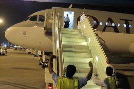 2012初夏、クロアチア等・東欧旅行記(49):6月26日(4):帰国、ザグレブからカタールのドーハ国際空港へ