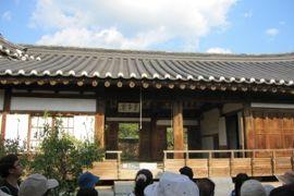 2012初秋、韓国旅行記25(9)安東、安東河回村、養真堂、忠孝堂、エリザベス女王記念植樹