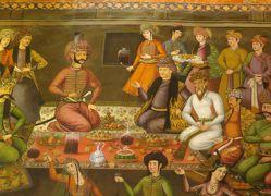 2012秋、イラン旅行記(54:補遺4):11月21日:チェヘル・ソトゥーン博物館:壁画、戦争図、宴会図