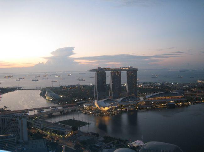 ビンタン島でまったりした後はシンガポールで大忙し<br />2泊3日しかない日程の中<br />夜景を見て<br />ユニバーサルに行って<br />最後の日はお土産(ほぼ自分宛)を買いに出かけました。<br /><br />娘2人。親子4人の旅行です。<br /><br />ビンタン島からの続き<br />29日 ビンタン島発11時のフェリーにてシンガポールへ<br />31日 シンガポール航空 SQ0634 15時発 羽田23時着