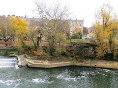 2013晩秋、イギリス旅行記2(17):12月1日(5):バース、バース旧市街散策、エイヴォン川、バース大僧院、パルティニー橋