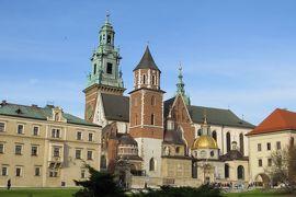 2013秋、ポーランド旅行記(8):10月21日(6):クラクフ、ヴァヴェル城、伝説のドラゴン像、大聖堂、王宮跡