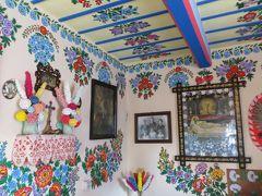 2013秋、ポーランド旅行記(13):10月22日(2):ザリピエ村、ザリピエ村の花模様発祥の展示館