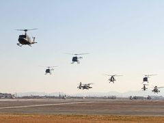 陸上自衛隊 明野駐屯地 飛行学校 飛行初め