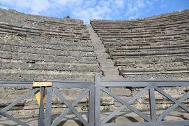 2013秋、イタリア旅行記2(6)ポンペイ、ポンペイ遺跡、遺跡外観、円形劇場跡