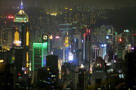 2013夏、中国旅行記23(10):7月20日(9):香港、ヴィクトリア・ピークからの夜景、バスで下山・ホテルへ