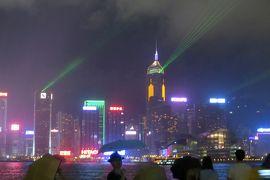 2013夏、中国旅行記23(18):7月21日(8):香港、香港繁華街、シンフォニーオブライツ、ヴィクトリア・ハーバー、満月
