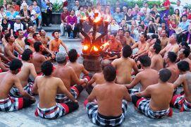 2013春、インドネシア旅行記2(14)バリ島、ウルワツ寺院、ケチャダンス観劇