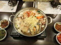 2013春、韓国旅行記26(17):4月9日(15):釜山、海鮮鍋の夕食、地下鉄でチャガルチ市場へ
