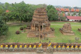 2013冬、タイ王国旅行記2(21)アユタヤ、象乗り体験、アユタヤ遺跡、ワット・ヤイチャイモンコン