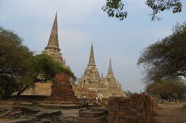 2013冬、タイ王国旅行記2(25)アユタヤ、アユタヤ遺跡、ワット・プラシーサンペット