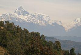 2014新春、ネパール旅行記(22)1月24日(2):ポカラ、ラムコットの丘からヒマラヤ連峰眺望