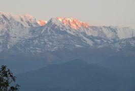 2014新春、ネパール旅行記(25)1月25日(1):ポカラ、サランコットの丘から朝日とヒマラヤ連峰鑑賞