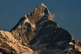 2014新春、ネパール旅行記(26)1月25日(2):ポカラ、サランコットの丘からの眺望、アンナプルナ連峰、ダウラギリ