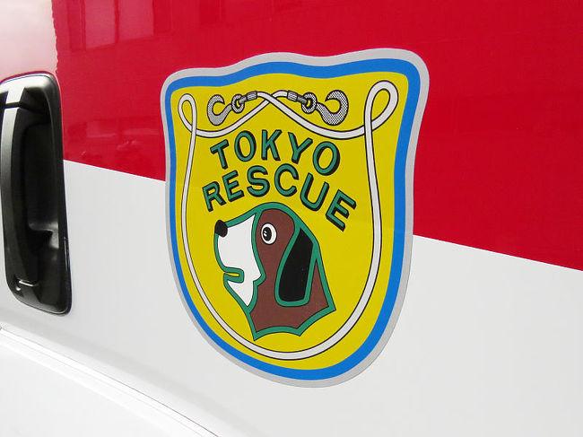 東京消防庁第六消防方面本部消防救助機動部隊(通称ハイパーレスキュー)を見学させていただきました。<br /><br />ゴールドを基調としフック付きワイヤーで囲まれたセントバーナードが助機動部隊のエンブレム。<br />