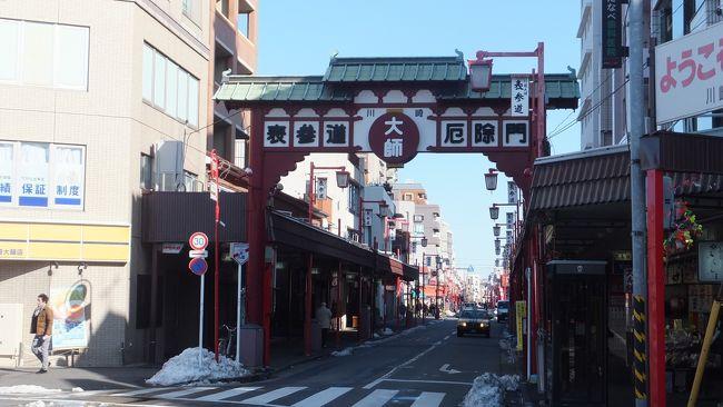 大雪などで延び延びだったウォーキング復活!今回は旧東海道~多摩川堤防~「川崎大師」へ。
