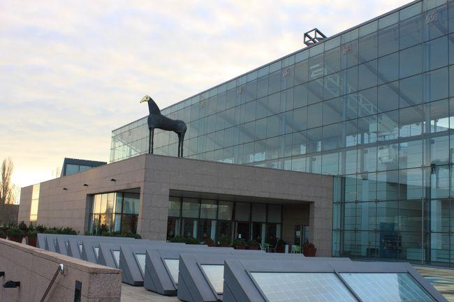 ストラスブールには10のミュゼ(美術館・博物館)がある。<br /><br />美術に限れば、ストラスブール・ボーザール美術館は1870年までの作品を、近代・現代美術館は1870年以降の作品を収蔵区分としている<br /><br />この近代・現代美術館は1998年に開館し、印象派から現代美術まで絵画彫刻だけで6000点の収蔵がある<br /><br />当然ながらここでしか見られない作品も数多くあり、ゆったりとした空間の中で楽しく作品に接することができた。<br /><br />館内のカフェからは旧市街が一望できるとのことで楽しみにしていたのだが<br />あいにく閉店中であったのが唯一残念であった。<br />但し、眺望だけでいえば外部のテラスからでも十分見ごたえがある。<br /><br /><br />
