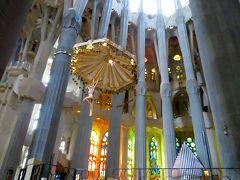 2014早春、南フランス等・4ヵ国巡り(6):2月26日(5):バルセロナ、サグラダファミリア、生誕のファサード、身廊、祭壇、ステンドグラス