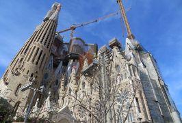 2014早春、南フランス等・4ヵ国巡り(9):2月26日(8):バルセロナ、サグラダファミリア、受難のファサード、ジローナへ、ショッピング・モール