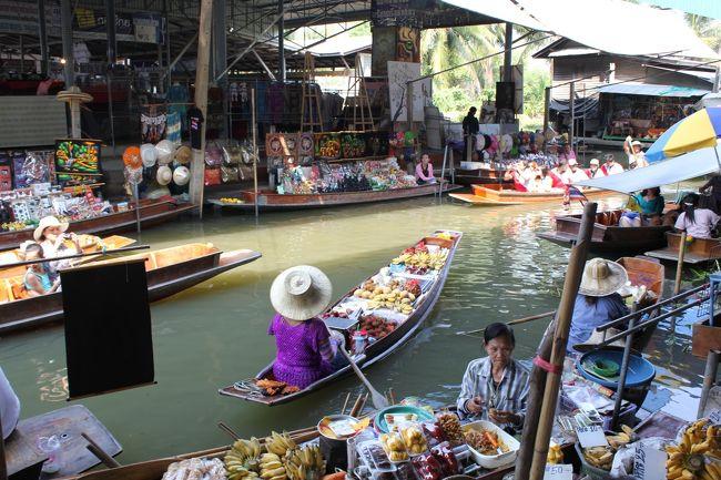 ずっとタイに行ってみたいと思いながらも韓国ばかりで早5年…<br />ついに念願のバンコクへ足を踏み入れました!<br /><br />女子2人旅で、目的はショッピングと食べ歩き&このメンバーではめずらしく?観光です。<br /><br /><br />★旅行代金★<br />ツアー代  \65,000 <br />(航空券+ホテル 燃油サーチャージ込) <br /><br />★スケジュール★<br />1日目 成田夜発、バンコク深夜着<br /><br />2日目 プラティナムファションモール<br />    ワットポー&ワットアルン<br /><br />3日目 水上マーケットと象乗りツアー<br />    アジアンティック ザ リバーフロント<br /><br />4日目 ウィークエンドマーケット<br /><br />5日目 バンコク早朝発、 成田昼着