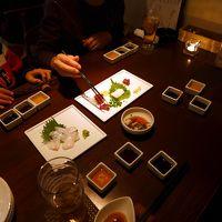 23.年末年始の九州旅行 コレットのショッピング 割烹バル アンブロシアキッチンの夕食