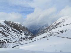 2014早春、南フランス等・4ヵ国巡り(14):2月27日(4):アンドラ公国からピレネー山脈を越えてフランスへ、シテ城塞の夜景