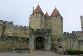 2014早春、南フランス等・4ヵ国巡り(15):2月28日(1):フランス:泊まったホテル界隈、朝焼けの光景、カルカソンヌの城塞へ
