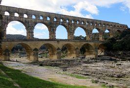 2014早春、南フランス等・4ヵ国巡り(20):2月28日(5):フランス:ポン・デュ・ガール、ガルドン河畔からの眺め、橋の袂からの眺め